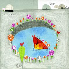 in love with a goldfish /// 02 fishing sweet love