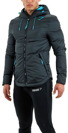 Gymshark Fitted Sector Puffer Jacket - Black