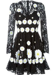 Dolce & Gabbana daisy appliqué lace dress