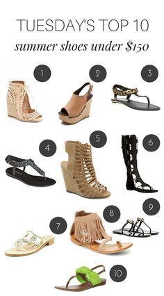 da18327583e Tuesday s Top 10  Summer Shoes Under  150