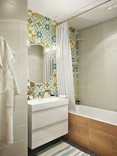 Дизайн проект П44т, интерьер, перепланировка П44-т, ванная, санузел
