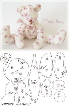 Sewing Dolls Patterns Teddy Bears 38 Ideas For 2019 baby toys patterns teddy bears Sewing Dolls Patterns Teddy Bears 38 Ideas For 2019 Teddy Bear Patterns Free, Teddy Bear Sewing Pattern, Teddy Bear Template, Sewing Stuffed Animals, Stuffed Animal Patterns, Animal Sewing Patterns, Sewing Patterns Free, Handmade Dolls Patterns, Free Pattern