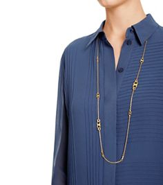 Tory Burch Gemini Link Convertbile Necklace