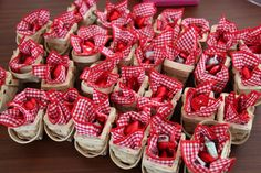 Mini Red Riding Hood Lolly Baskets were the take home lolly bags for our little red riding hood party. Storybook Party, Red Riding Hood Party, Lolly Bags, Red Ridding Hood, Party Bags, Little Red, Tea Party, Raspberry, Picnic