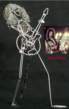 Brian May model guitarist Brian May, Unique Words, Copper Wire, Model, Crafts, Art, Craft Art, Manualidades, Kunst