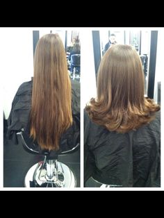 Long to short haircut!
