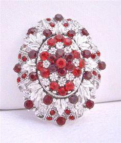 Red brooch