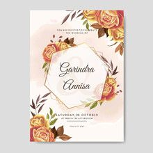 Sell stock photos, videos, vectors online | Adobe Stock Contributor Wedding Invitation Card Template, Beautiful Wedding Invitations, Save The Date Invitations, Watercolor Wedding Invitations, Elegant Wedding Invitations, Wedding Invitation Templates, Pastel Wedding Stationery, Wedding Cards, Flower Frame