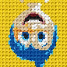 Inside Out Joy Portrait LEGO® Mosaic 15 by CreativeSquareStudio
