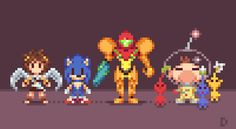Super Low Res Brothers (Part 1) Pixel Artist: Davitsu Source: davitsu.tumblr.com  Part 2 can be found here