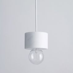 Lamps with marble cuffs