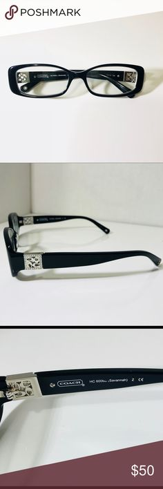 Coach Black Savannah Prescription Glasses Women's Coach Prescription Glasses In Great Condition Lenses Will Need To be Replace Coach Accessories Glasses