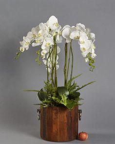 Shop over 100 beautiful artificial flower arrangements. Artificial Orchids, Artificial Flower Arrangements, White Orchids, Wine, Plants, Handmade, Beautiful, Home Decor, Flower Arrangements