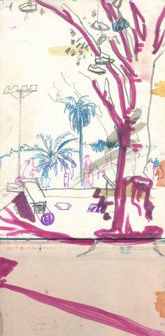 """Skatepark"" by Johann Rohl from ""A Seville Sketchbook"""