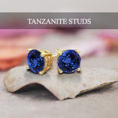 tanzanite studs