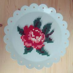 Rose hama beads by _mieke_