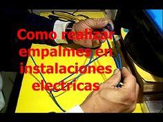 Como realizar empalmes correctamente en instalaciones electricas - YouTube