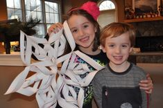 {3D snowflake instructions} We are SO doing this, too cool...