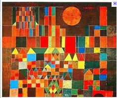 Holly's Arts and Crafts Corner: 2011: Art Project 7: Paul Klee Castle