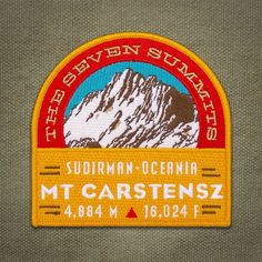 757e742a9c28 Mt. Carstensz Seven Summits Series Patch
