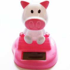 Cute Pink Pig Solar-Powered Never End Dancing no battery needed 3   www.balligifts.com