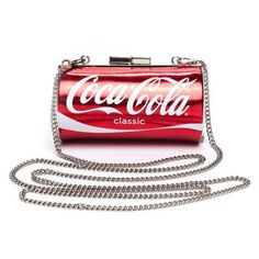 Coke Fiend Coca Cola Mini Clutch ❤ liked on Polyvore featuring bags, handbags, clutches, mini pochette, red clutches, mini handbags, red handbags and miniature purse