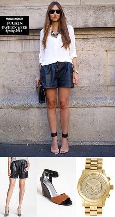 Paris Street Style 101: Black, White, & Metallic City Chic