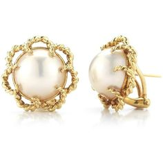 Pre-owned Tiffany & Co. Pearl Earrings ($1,850) ❤ liked on Polyvore