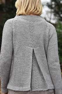 Ravelry: Traudl pattern by Claudia Wersing Sweater Knitting Patterns, Knitting Designs, Knit Patterns, Knit Jacket, Knit Cardigan, Knitting For Beginners, Sewing Techniques, Needle And Thread, Knit Crochet