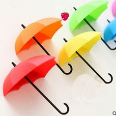 3 Adet Renkli Şemsiye Duvar Kanca Anahtar Saç Pin Tutucu Organizatör Dekoratif Ücretsiz Kargo