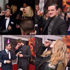 One last shot! The cast take shots at the New York Premiere for Mockingjay Part 2. THIS IS THE LAST PRESS YOUR AND IM DYING. It's so bittersweet. I'm gonna miss seeing them together like this!