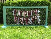 Gig'em Aggies maroon and white rag banner for Texas A&M tailgate, dorm or home