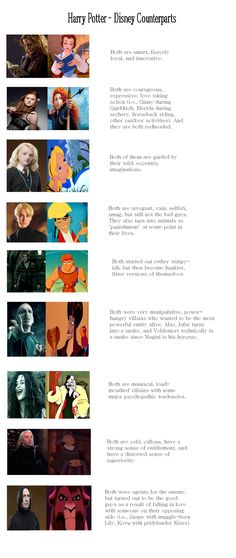 Check it out Potter Heads! Harry Potter and their Disney Counterparts: Hermione = Belle; Harry Potter Disney, Harry Potter Jokes, Harry Potter Characters, Disney Hogwarts, Disney Characters, Disney Memes, Disney Quotes, Funny Disney, Emma Watson