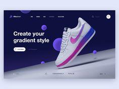 Nikeplanet by Fred Zachinov for Shakuro on Dribbble Nike Design, Design Lab, Ad Design, Design Trends, Design Concepts, Sketch Design, Landing Page Inspiration, Web Design Inspiration, Nike Air