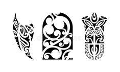Set of polynesian tattoo. Traditional maori tribal ornaments. Vector pattern illustration vector illustration Maori Tattoos, S Tattoo, Tribal Tattoos, Wrist Band Tattoo, Mann Tattoo, Polynesian Tattoo Sleeve, Polynesian Tattoo Designs, Sleeve Tattoos, Half Sleeve Tattoo Template