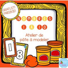 FREEBIE numbers Playdough Mats/ Nombres en pâte à modeler Kindergarten Math, Preschool, French Numbers, French Resources, Busy Bags, Sensory Activities, Fine Motor Skills, Math Centers, Projects To Try