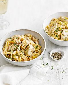 Tarragon, chicken and wine is always a wonderful combination. This creamy tagliatelle recipe really showcases the power of simple but classic flavours.