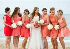 beach bridemaid mismatched bridesmaid dresses -