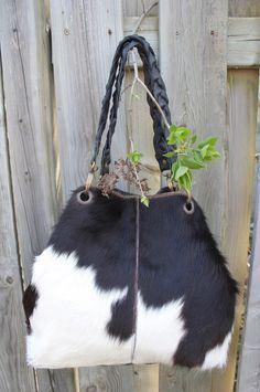 Black and white cowhide bag. CA$220