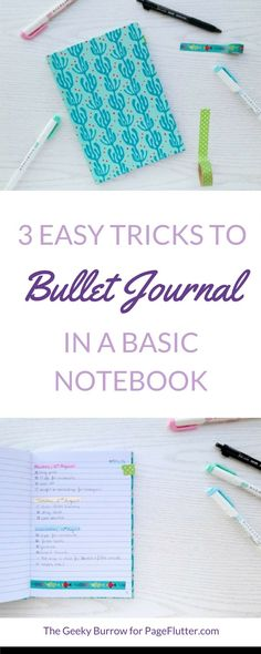 You can Bullet Journal in a basic notebook, WITHOUT special supplies. Check out these tips to improve your basic journaling experience. Bullet Journal Lined Paper, Bullet Journal Lines, Making A Bullet Journal, February Bullet Journal, Bullet Journal For Beginners, Bullet Journal Hacks, Bullet Journal Spread, Bullet Journal Layout, Bullet Journal Ideas Pages
