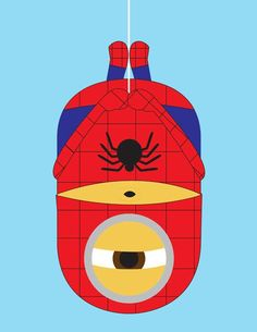 2 of my favorite things: Spider-man and Minions!