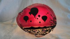 Items similar to Brazilian Agate Hot Air Balloon Night Light on Etsy Brazilian Agate, Hot Air Balloon, Pumpkin Carving, Superhero Logos, Night Light, Balloons, Unique Jewelry, Handmade Gifts, Gift Ideas