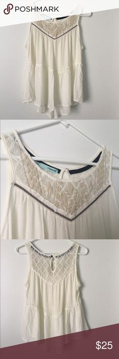 Beautiful Maurice's tank top! Beautiful Maurices tank top with  detailing! It is so perfect for a summer day! It's definitely a must have! In perfect condition! This is a piece you must have your hands on! Maurices Tops Blouses