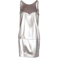 Pinko Black Short Dress ($147) ❤ liked on Polyvore featuring dresses, silver, short sleeveless dress, pinko dress, short white dresses, mini dress and sleeveless dress