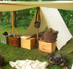 Here is a civil war reenactment encampment that would also look great in a medieval LARP.