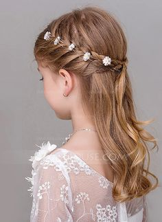 Women Hairstyles Braids [ Hairpin (Set JJs House New Site Flower Girl Hairstyles Hairpin House JJs Set site.Women Hairstyles Braids [ Hairpin (Set JJs House New Site Flower Girl Hairstyles Hairpin House JJs Set site Flower Girl Hairstyles, Little Girl Hairstyles, Hairstyles For School, Cute Hairstyles, Hairstyles 2016, Medium Hairstyles, Kids Wedding Hairstyles, Hairstyles With Braids, Bridesmaid Hairstyles