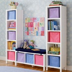 5-Cube Bookcase & 3-Cube Bench (White)  | Crate and Barrel