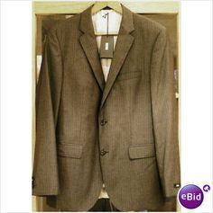 HUGO BOSS Grey Stripe Wool Suit Jacket 42 R Guabello James/Sharp2 Designer BNWT on eBid United Kingdom
