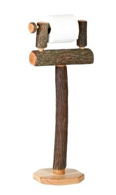 standing toilet roll holder wooden - Google Search