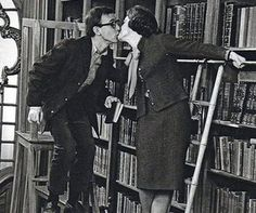 Woody Allen and Romy Schneider kiss in the library (1964) in What's New Pussycat? (released 1965). An appealing, free-floating lunacy fuels What's New Pussycat?, and there's enough of it bubbling...